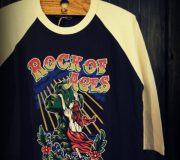 GNARLY COOTIE Print 3/4 Raglan Sleeve Tee(Rock of Ages)
