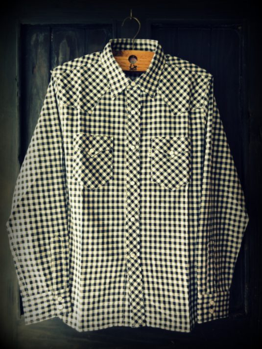 GNARLY COOTIE Gingham Check L/S Western Shirt