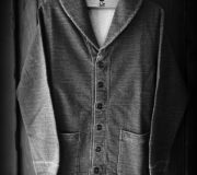 GNARLY COOTIE Indigo Shawl Collar Cardigan