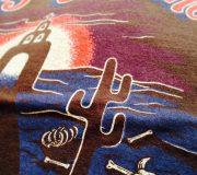 cootie Print 3/4 Raglan Sleeve Tee (Fuego de Infierno) gnarly