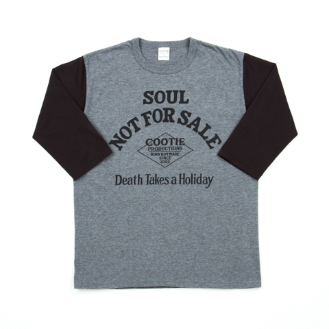 Print 3/4 Set-In Sleeve Tee(DEATH TAKES HOLIDAY)