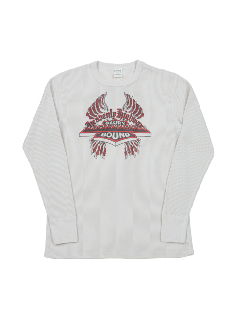 Waffle Thermal Print L/S Tee