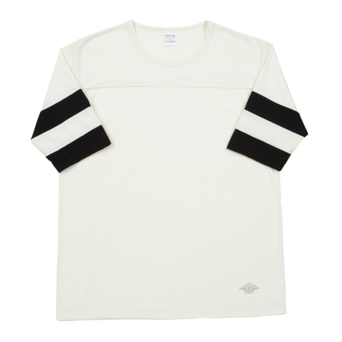 3/4 Sleeve Football Tee-Off_White