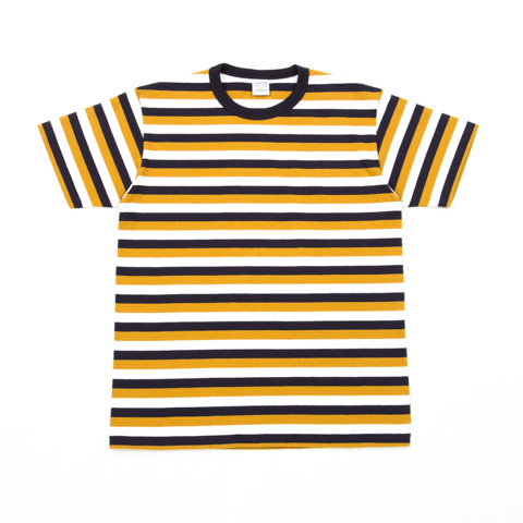 Multi Border Crewneck S/S Tee