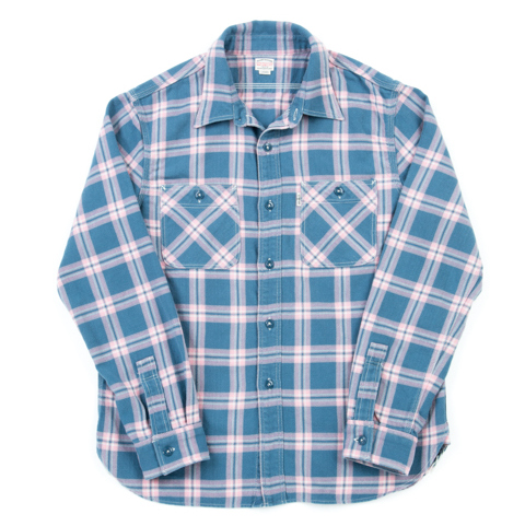Indigo Check L/S Work Shirt