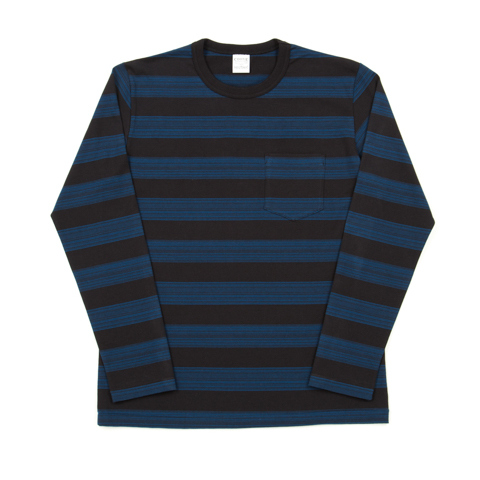Panel Shadow Border L/S Pocket Tee