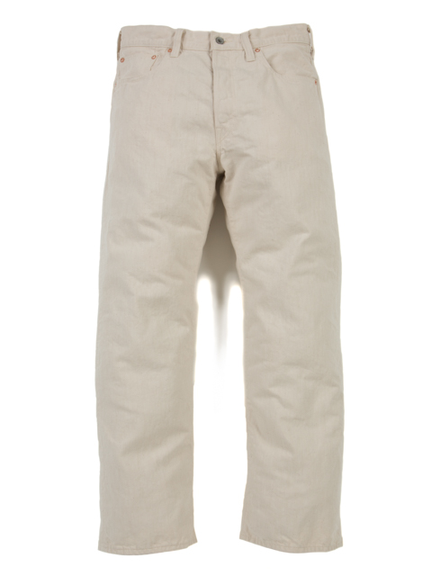 5 Pocket Baggy Denim (1 Wash)-Ivory