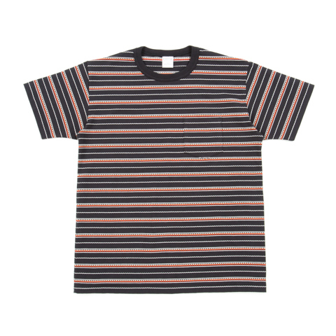 Jacquard Border Crewneck S/S Pocket Tee