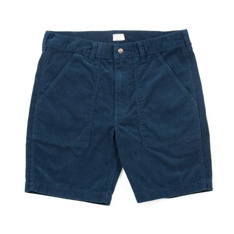 Corduroy Baker Shorts-Navy