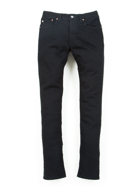 5 Pocket Skinny Denim-Black