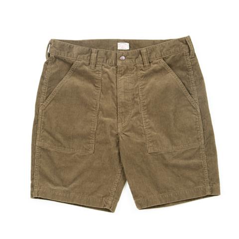 Corduroy Baker Shorts-Olive
