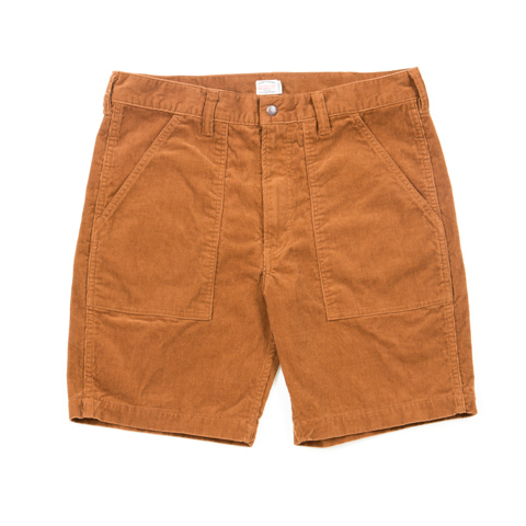 Corduroy Baker Shorts-Brown
