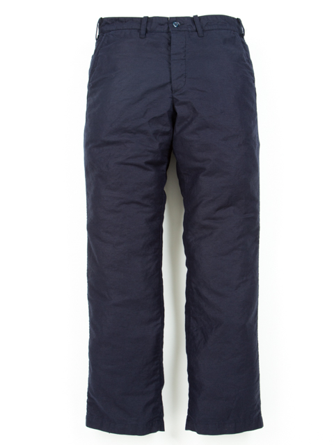 Cotton Linen Loose Fit MilitaryTrousers-Navy