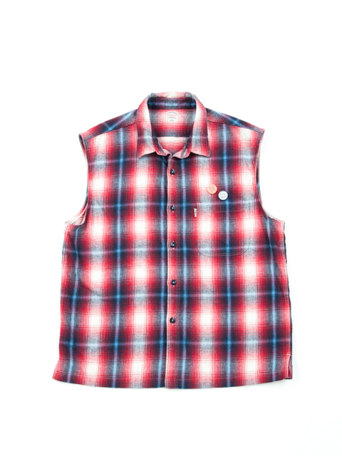Flannel Sleeveless Shirt