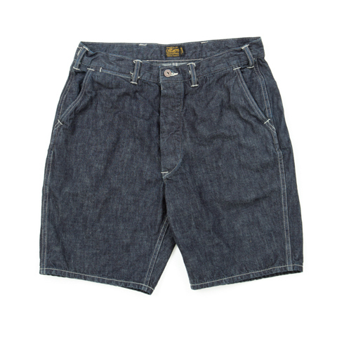 Army Denim Utility Shorts-Indigo