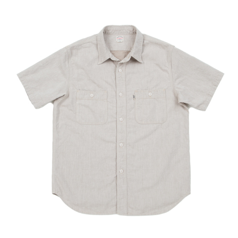 Herringbone S/S Work Shirt