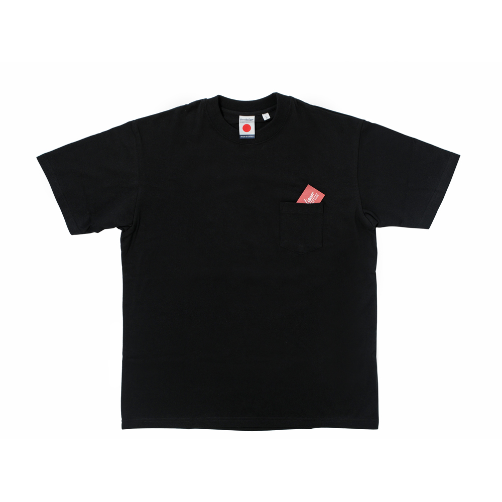 Japan Made Crewneck S/S Pocket Tee-Black-