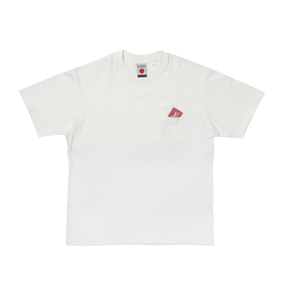 Japan Made Crewneck S/S Pocket Tee-White-