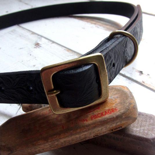 Bandit Leather Narrow Belt (Rose)