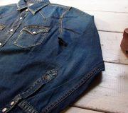 Denim L/S Western Shirt(Used Wash)