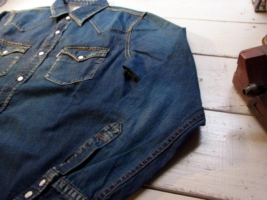 Denim L/S Western Shirt(Used Wash)