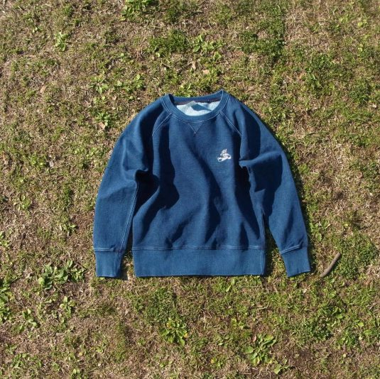 Ladies'Denim Crewneck L/S Sweatshirt[Swallow]