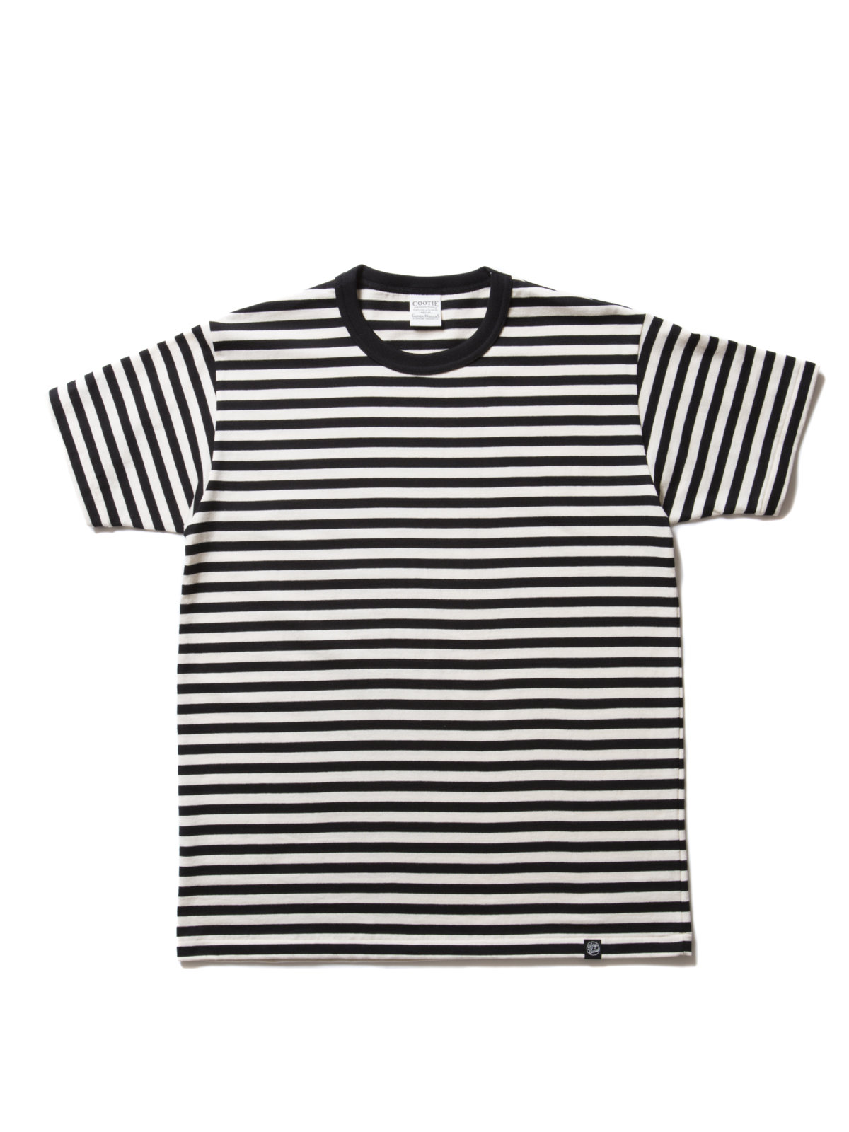 Solid Border S/S Tee-Off White Black-