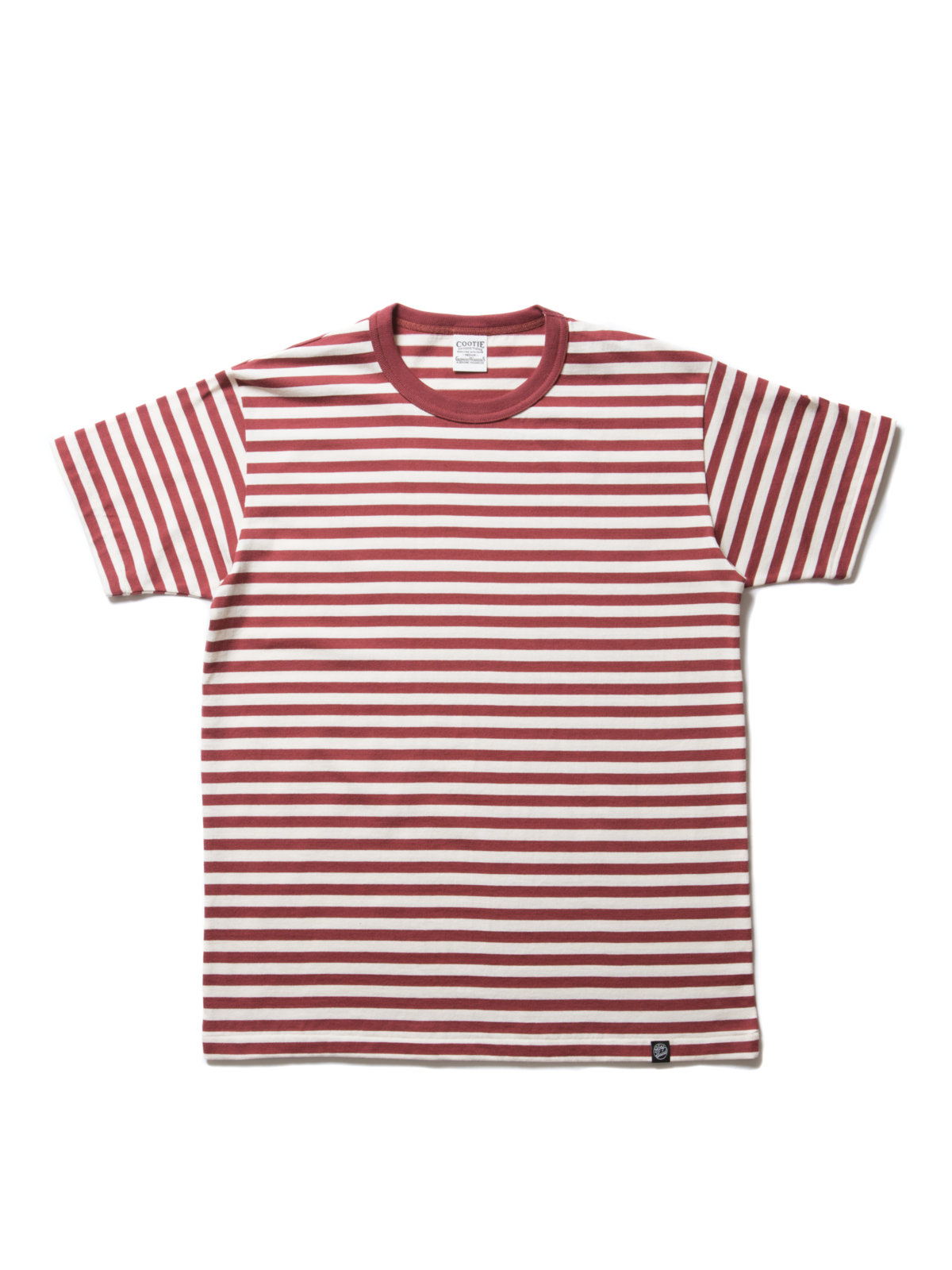 Solid Border S/S Tee-Off White Red-