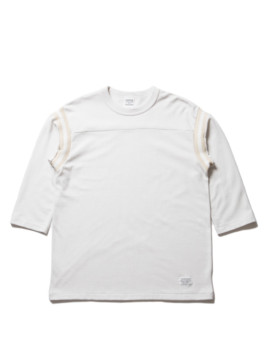 3/4 Sleeve Football Tee-Off White-