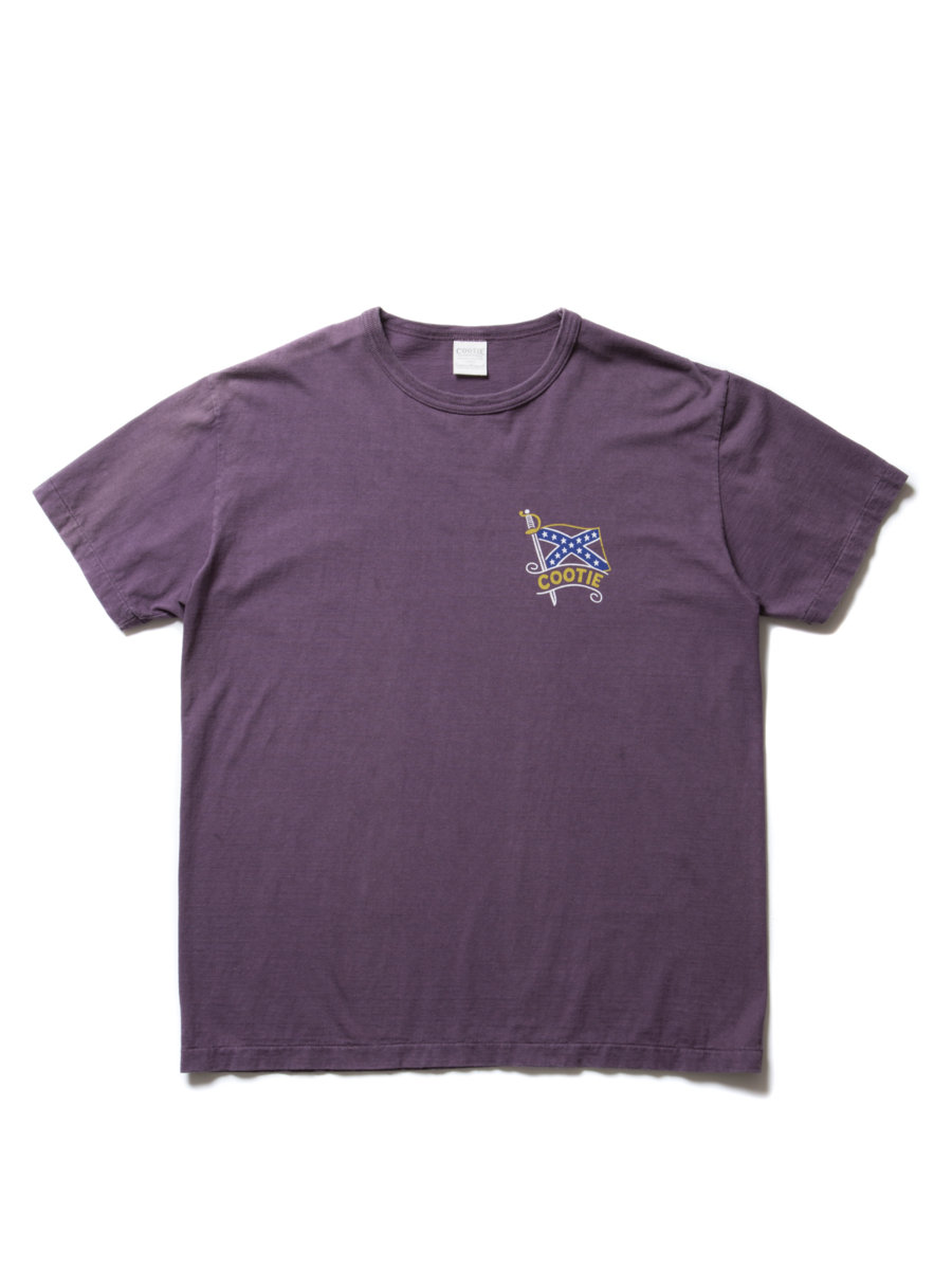 Vintage Print S/S Tee (SURRENDER?) -Purple-