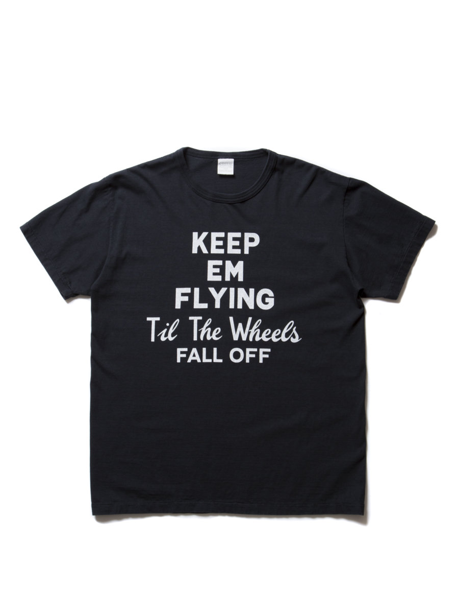 Vintage Print S/S Tee (KEEP EM FLYING)-Coal Black-