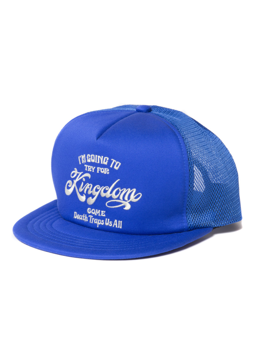 Twill 5 Panel Trucker Cap-Blue-