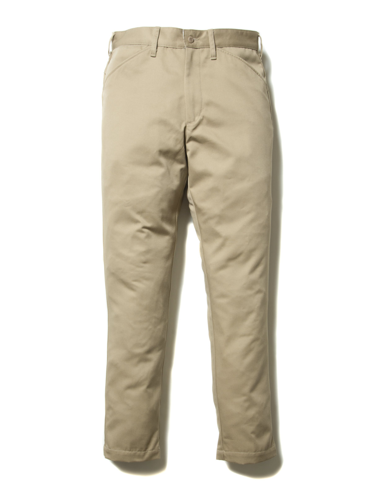 Slim Fit Work Trousers-Beige-