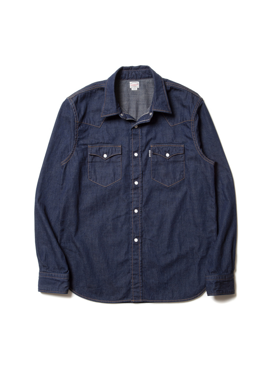 Denim L/S Western Shirt-1Wash-