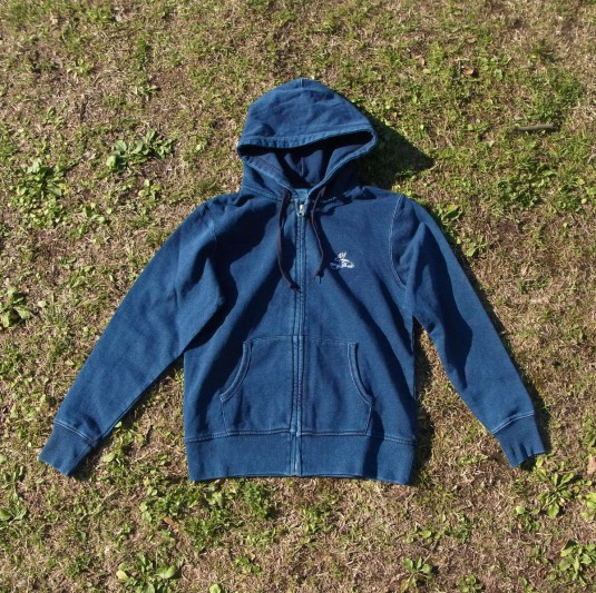 Denim Zip Sweatparka