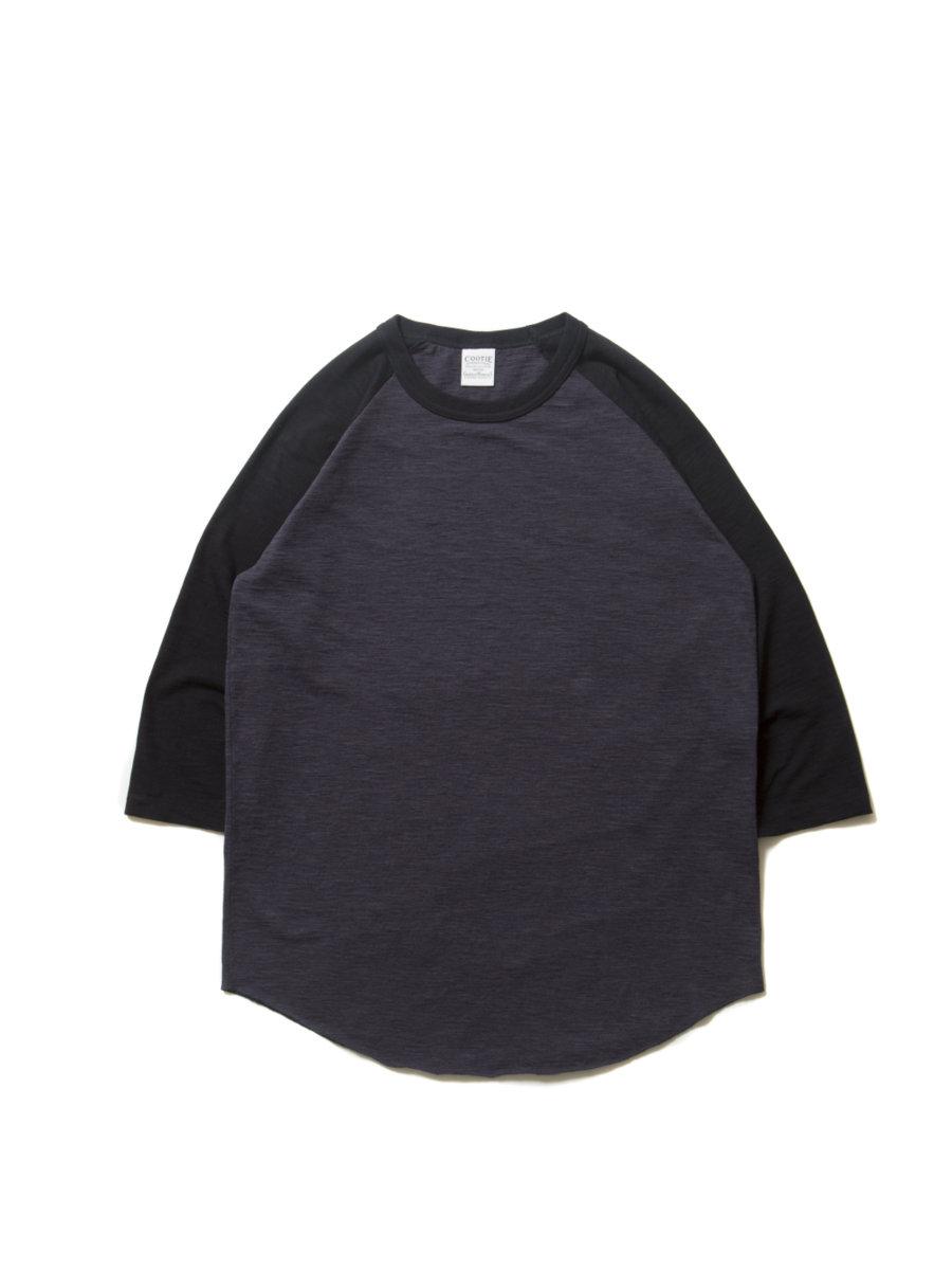 Slab 3/4 Raglan Sleeve Tee-Black×C.Gray-