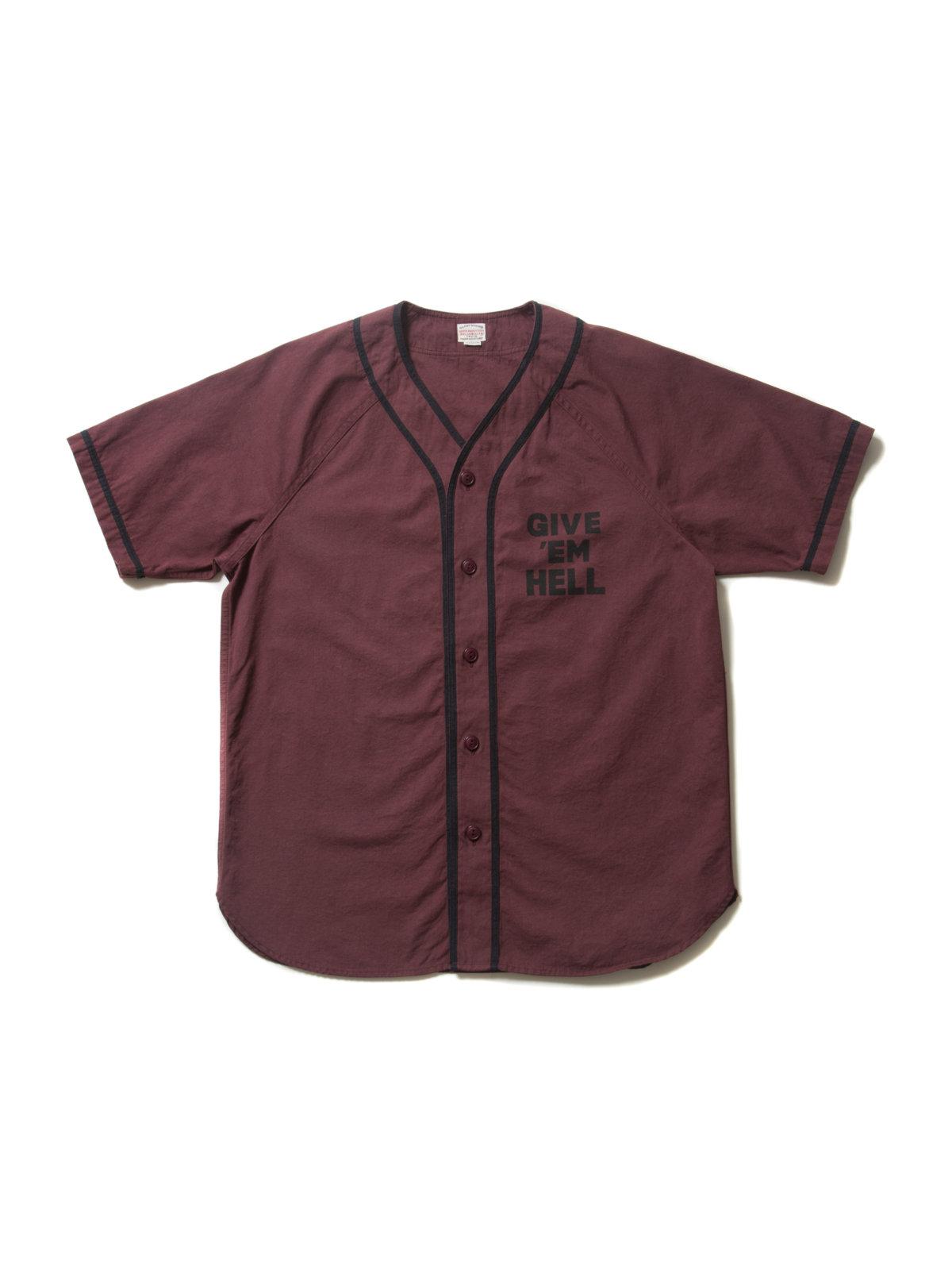 Ballgame Shirt-Burgundy-