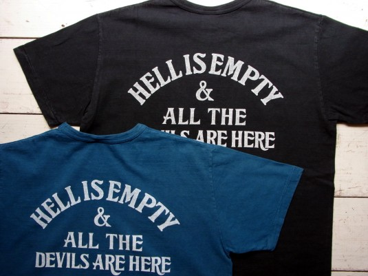 Vintage Print S/S Tee (HELL IS EMPTY)