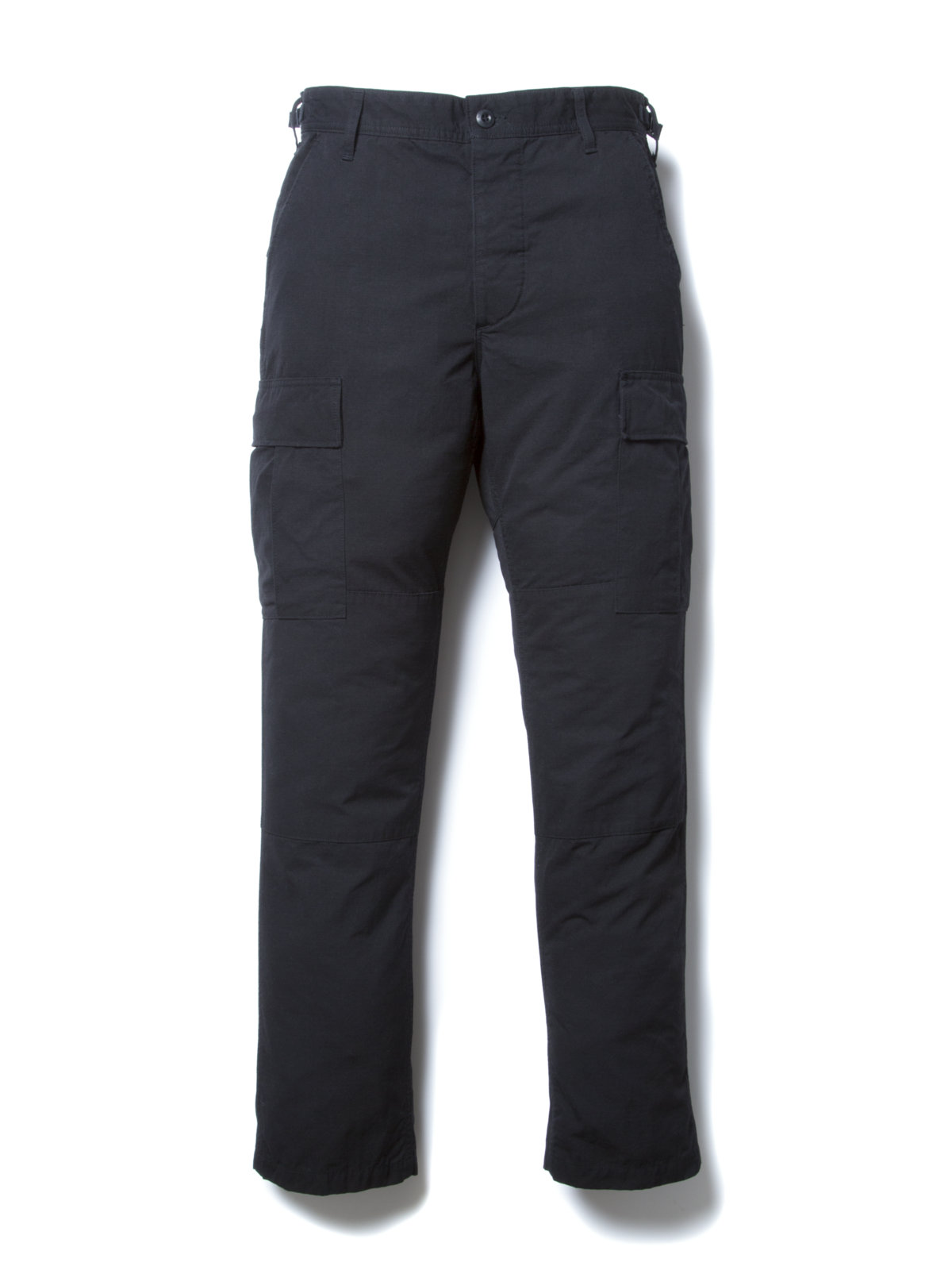 Ripstop Cargo Trousers-Black-