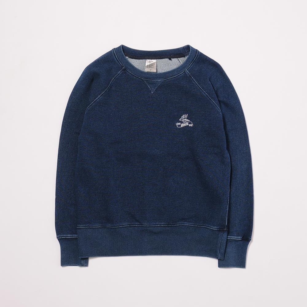 Ladies'Denim Crewneck L/S Sweatshirt