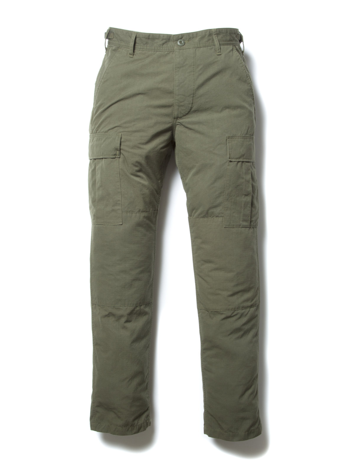 Ripstop Cargo Trousers-Olive-
