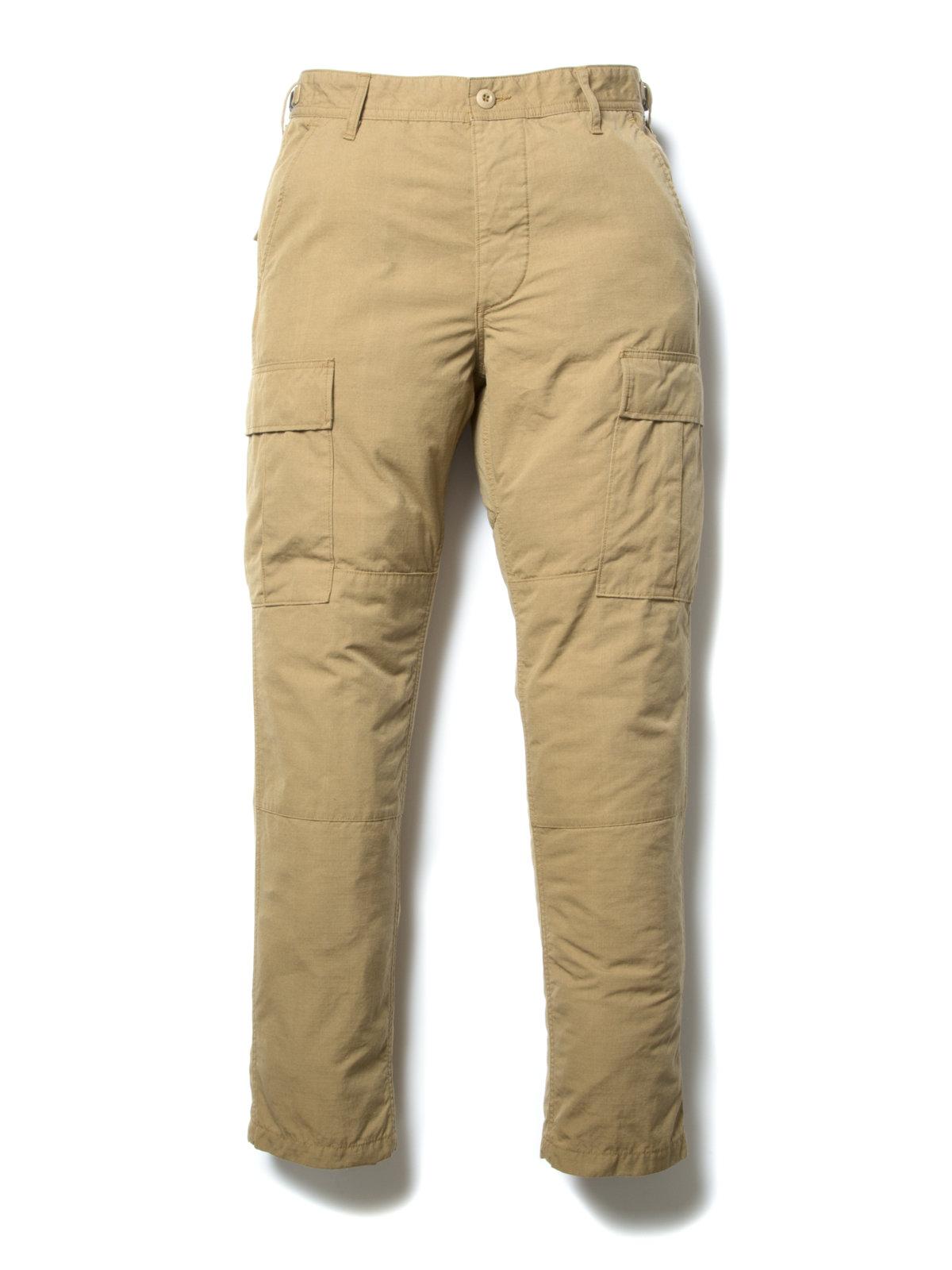 Ripstop Cargo Trousers-Beige-