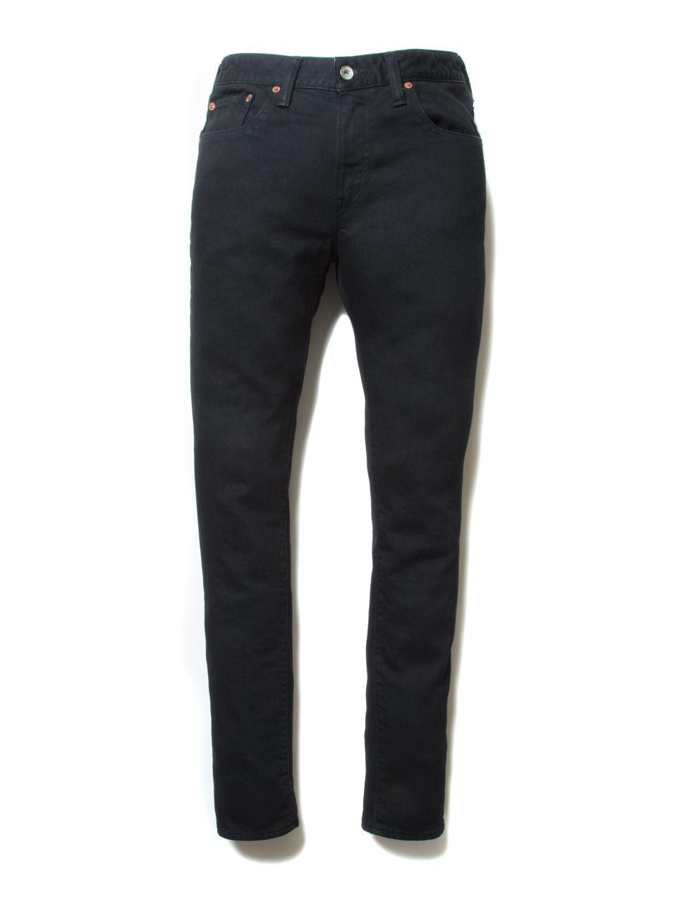 5 Pocket Skinny Denim-Black-