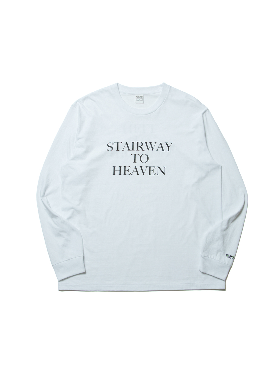 Print L/S Tee (HEAVEN&HELL)-White-