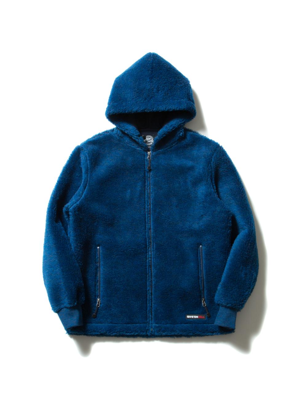 Death Bowl Zip Parka-Blue-