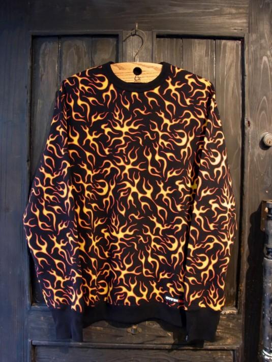 Flames Crewneck L/S Sweatshirt