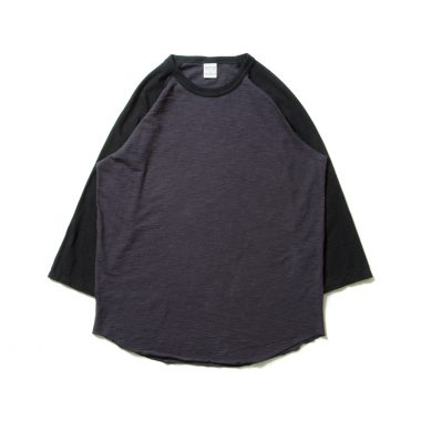 Slab 3/4 Raglan Sleeve Tee-Black×C.Gray-