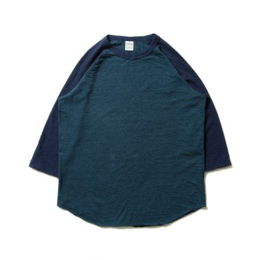 Slab 3/4 Raglan Sleeve Tee-Navy×Blue Green-