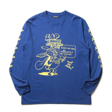Print L/S Tee (ZAP COMIX)-Blue-