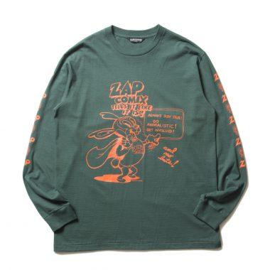 Print L/S Tee (ZAP COMIX)-Green-